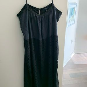 Madewell dress in navy and black size 12